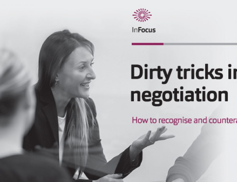 Dirty tricks in negotiation